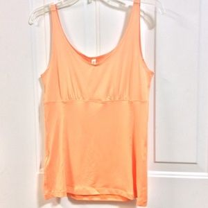 MIRACLE BODY Orange Stretch Tank Top SIZING OFF